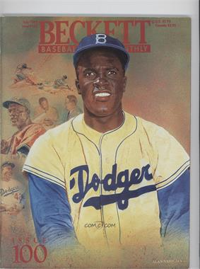 1984-Now Beckett Baseball #100 - July 1993 (Jackie Robinson)