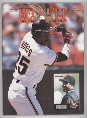 1984-Now Beckett Baseball #103 - October 1993 (Barry Bonds)