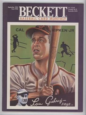 1984-Now Beckett Baseball #126 - September 1995 (Cal Ripken Jr.)