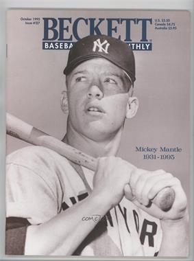 1984-Now Beckett Baseball #127 - October 1995 (Mickey Mantle)