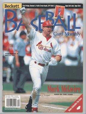1984-Now Beckett Baseball #165 - December 1998 (Mark McGwire, Sammy Sosa)