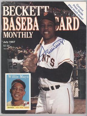 1984-Now Beckett Baseball #29 - July 1987 (Willie Mays) [GoodtoVG‑EX]