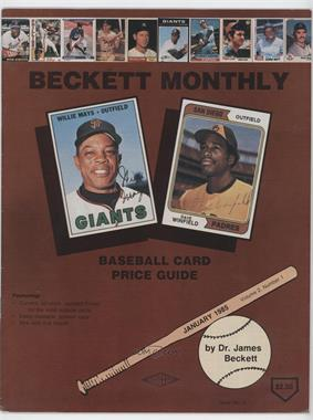 1984-Now Beckett Baseball #3 - January 1985 (Willie Mays, Dave Winfield) [Good to VG‑EX]