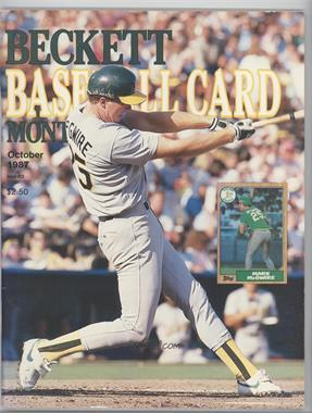 1984-Now Beckett Baseball #32 - October 1987 (Mark McGwire) [Good to VG‑EX]