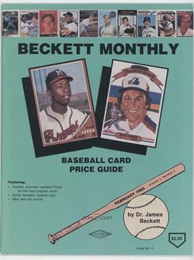 1984-Now Beckett Baseball #4 - February 1985 (Hank Aaron, Gary Carter) [Good to VG‑EX]