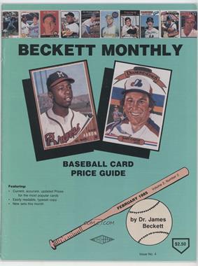1984-Now Beckett Baseball #4 - February 1985 (Hank Aaron, Gary Carter) [GoodtoVG‑EX]