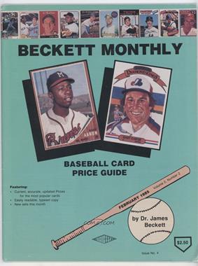 1984-Now Beckett Baseball #4 - [Missing] [GoodtoVG‑EX]