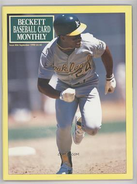 1984-Now Beckett Baseball #66 - September 1990 (Rickey Henderson)