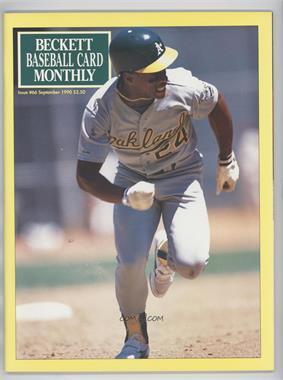 1984-Now Beckett Baseball #66 - September 1990 (Rickey Henderson)