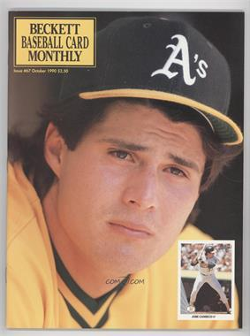 1984-Now Beckett Baseball #67 - October 1990 (Jose Canseco)