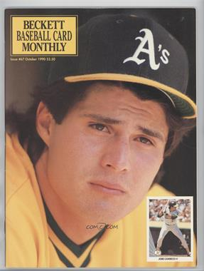 1984-Now Beckett Baseball #67 - October 1990 (Jose Canseco) [Good to VG‑EX]