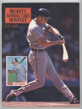 1984-Now Beckett Baseball #74 - May 1991 (Cal Ripken Jr.) [Good to VG‑EX]