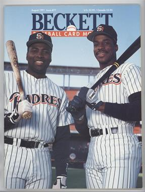 1984-Now Beckett Baseball #77 - August 1991 (Tony Gwynn, Fred McGriff) [Good to VG‑EX]