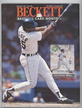 1984-Now Beckett Baseball #81 - December 1991 (Cecil Fielder)
