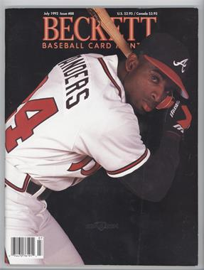 1984-Now Beckett Baseball #88 - July 1992 (Deion Sanders) [Good to VG‑EX]