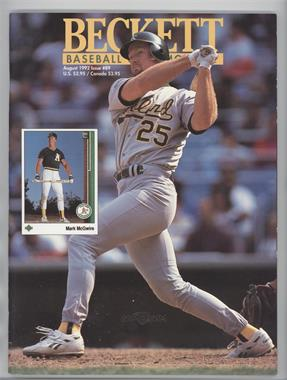 1984-Now Beckett Baseball #89 - August 1992 (Mark McGwire)