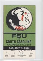 vs. South Carolina Gamecocks