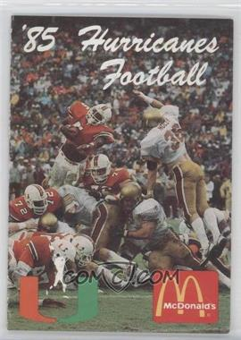 1985 Miami Hurricanes Football Team Schedules #MIHU - Miami Hurricanes