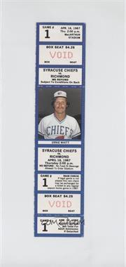 1987 Syracuse Chiefs - Ticket Stubs #1 - April 16 vs. Richmond Braves (Ernie Whitt)