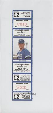 1987 Syracuse Chiefs Ticket Stubs #12 - May 6 (Tom Henke)