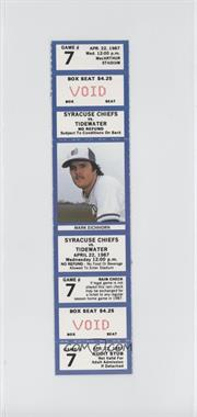 1987 Syracuse Chiefs Ticket Stubs #7 - April 22 vs. Tidewater Tides (Mark Eichhorn)