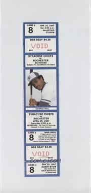 1987 Syracuse Chiefs Ticket Stubs #8 - April 25 vs. Rochester Red Wings (George Bell)