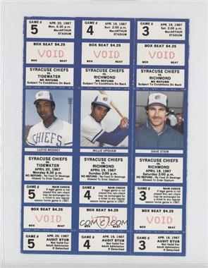 1987 Syracuse Chiefs Ticket Stubs #N/A - [Missing]