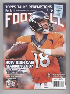 1989-Now Beckett Football - [Base] #12-13 - December 2013 (Peyton Manning)