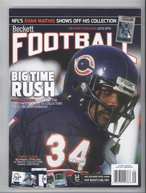 1989-Now Beckett Football - [Base] #9-13 - September 2013 (Walter Payton)