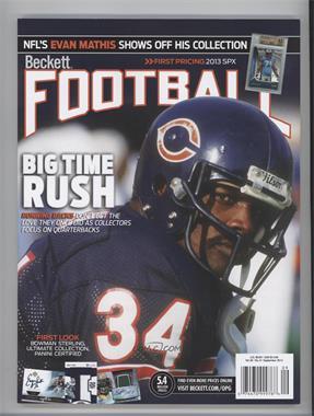 1989-Now Beckett Football - [Base] #9-13 - September 2013 (Walter Payton)