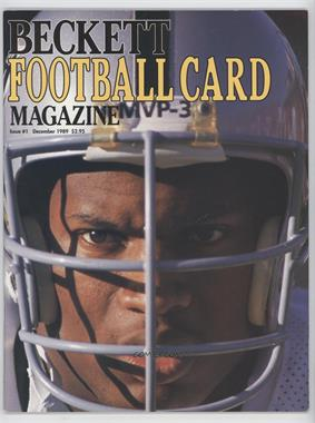 1989-Now Beckett Football #1 - December 1989 (Bo Jackson) [Good to VG‑EX]