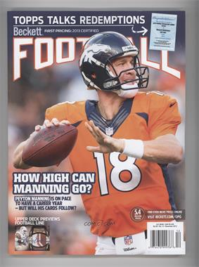 1989-Now Beckett Football #12-13 - December 2013 (Peyton Manning)