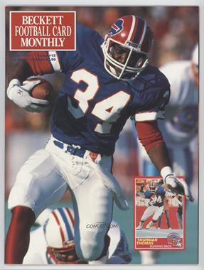 1989-Now Beckett Football #12 - March 1991 (Thurman Thomas)