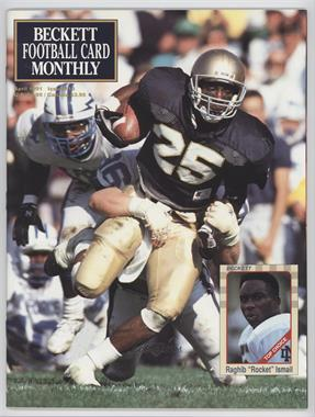 1989-Now Beckett Football #13 - April 1991 (Rocket Ismail)