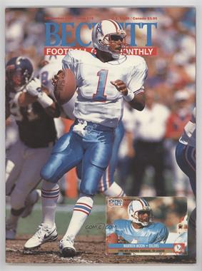 1989-Now Beckett Football #18 - September 1991 (Warren Moon)