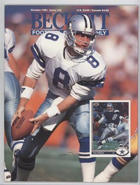 1989-Now Beckett Football #19 - October 1991 (Troy Aikman)