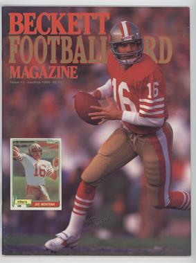 1989-Now Beckett Football #2 - Janurary/February 1990 (Joe Montana) [Good to VG‑EX]