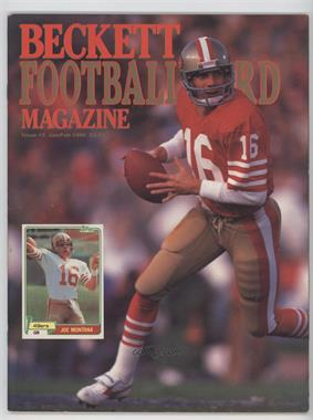 1989-Now Beckett Football #2 - Janurary/February 1990 (Joe Montana)