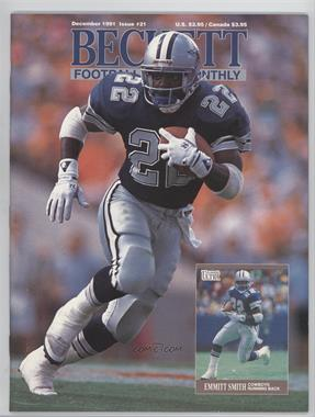 1989-Now Beckett Football #21 - December 1991 (Emmitt Smith)