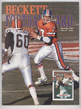 1989-Now Beckett Football #3 - March/April 1990 (John Elway)