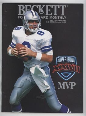 1989-Now Beckett Football #37 - April 1993 (Troy Aikman) [Good to VG‑EX]