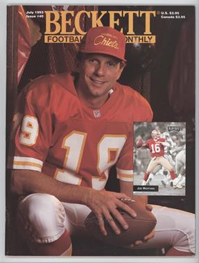1989-Now Beckett Football #40 - July 1993 (Joe Montana)