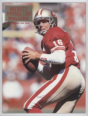 1989-Now Beckett Football #9 - December 1990 (Joe Montana)