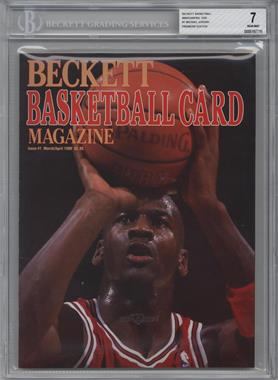 1990-Now Beckett Basketball - [Base] #1 - March/April 1990 (Michael Jordan) [BGS 7]