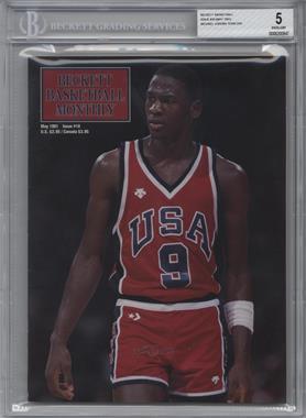 1990-Now Beckett Basketball - [Base] #10 - May 1991 (Michael Jordan) [BGS5]