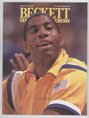1990-Now Beckett Basketball - [Base] #13 - August 1991 (Magic Johnson)