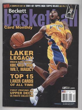 1990-Now Beckett Basketball - [Base] #141 - April 2002 (Kobe Bryant) [Good to VG‑EX]