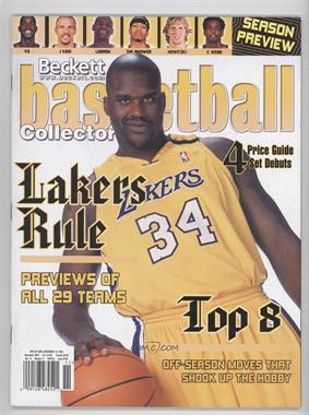 1990-Now Beckett Basketball - [Base] #160 - November 2003 (Shaquille O'Neal)
