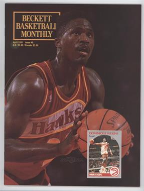1990-Now Beckett Basketball - [Base] #9 - April 1991 (Dominique Wilkins)