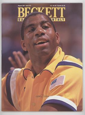 1990-Now Beckett Basketball #13 - August 1991 (Magic Johnson)